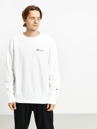 Champion Premium Reverse Weave Crewneck Left Chest Logo Sweatshirt (wht)