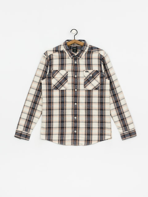 RVCA Thatll Work Flannel Shirt (silver bleach)