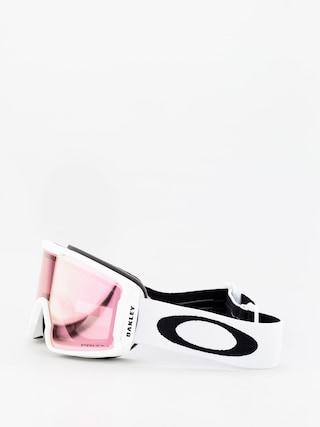 Oakley Line Miner Xm Goggles (matte white/prizm snow hi pink iridium)