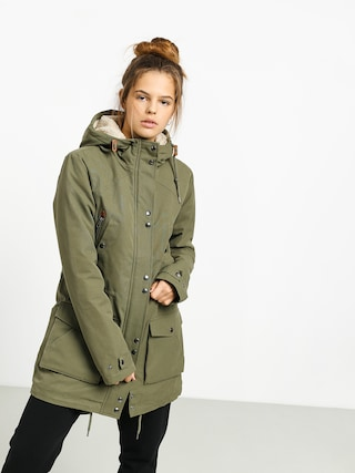 Volcom Walk On By 5K Parka Jacket Wmn (army green combo)