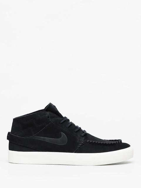Nike SB Zoom Janoski Mid Crafted Shoes (black/black pale ivory)