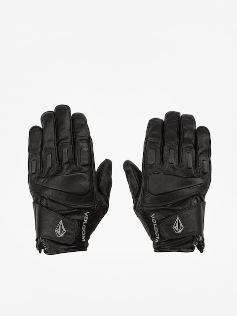 Volcom Crail Leather Gloves (blk)