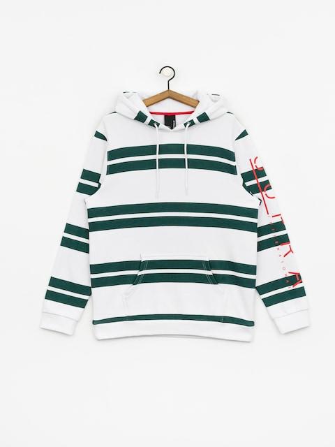 Supra Represent Stripe HD Hoodie (white/evergreen)