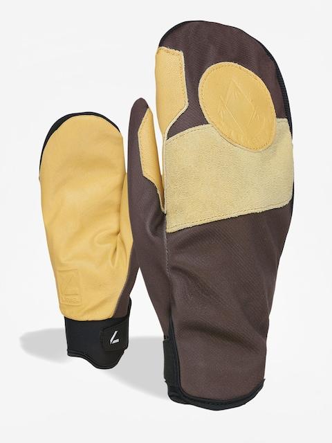 Level Pro Rider Mitt Gloves (pk brown)