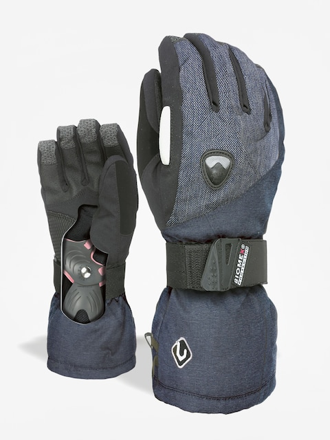 Level Butterfly W Gloves Wmn (blue grey)