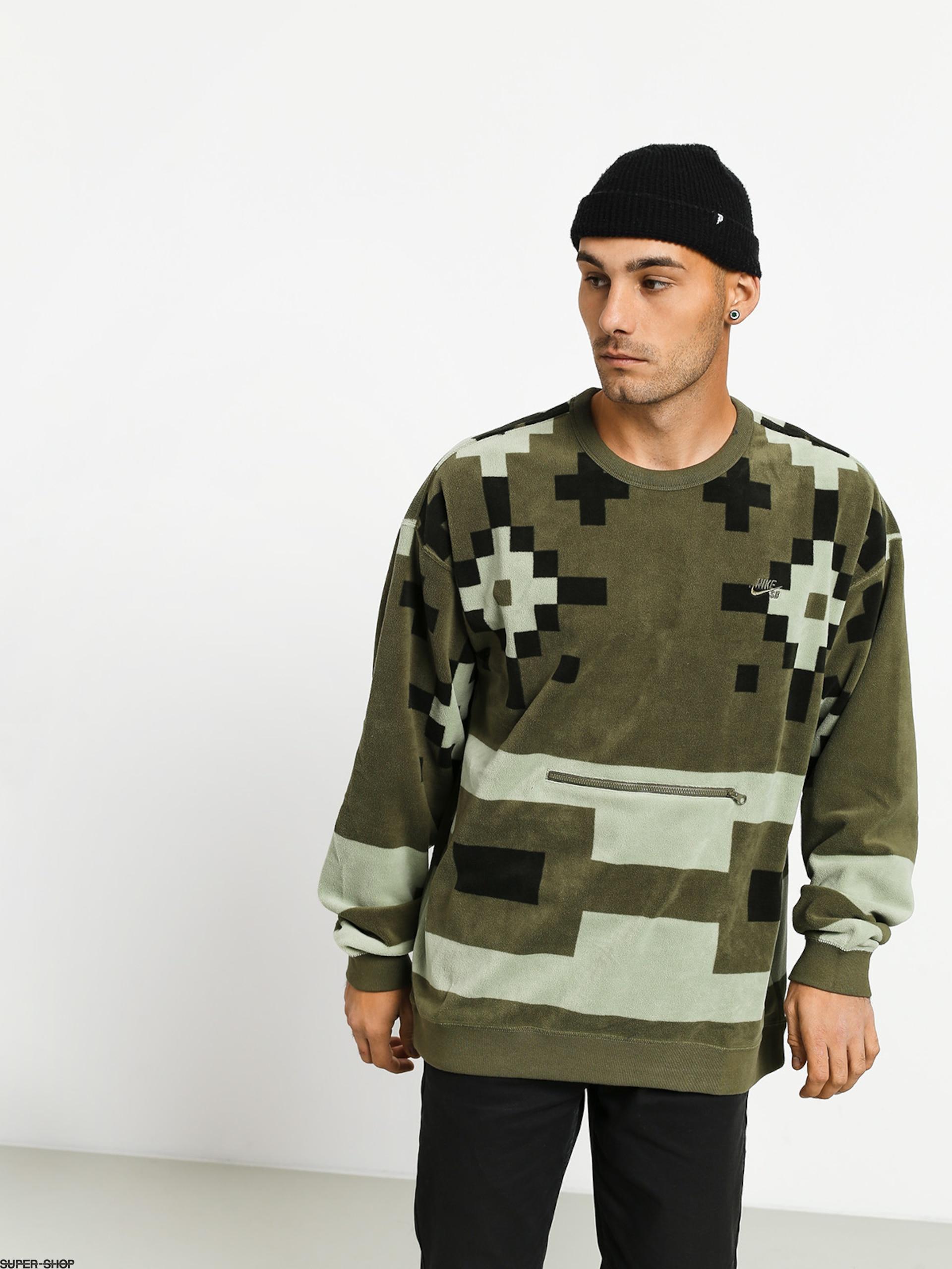 Prefijo veneno Impotencia  Nike SB Icon Crew Nomad Sweatshirt (medium olive/medium olive/medium olive)