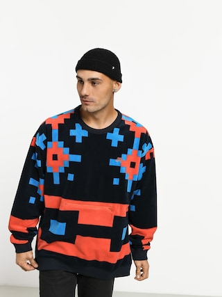 Nike SB Icon Crew Nomad Sweatshirt (dark obsidian/bright crimson)