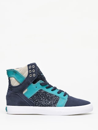 Supra Skytop Shoes (navy/teal white)