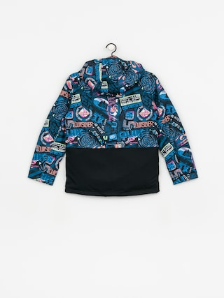 Quiksilver Mission Block Jacket (black bark to the moon)