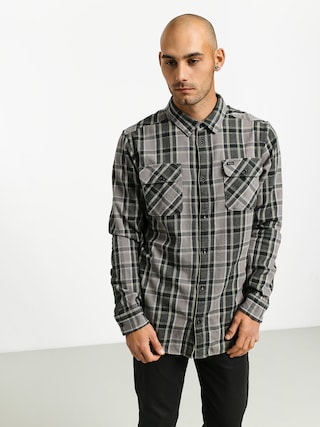 RVCA Thatll Work Flannel Shirt (smoke)