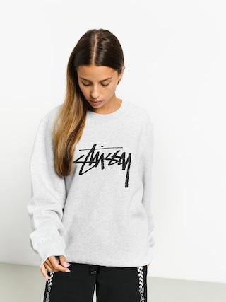 Stussy Stock Crew Sweatshirt Wmn (ash heather)