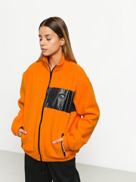 Local Heroes Orange Fleece Zip Fleece Wmn (orange)