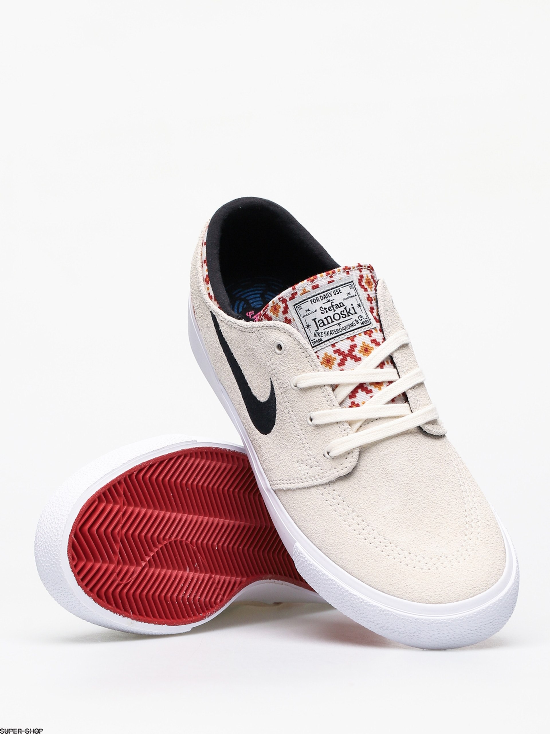 Nike SB Zoom Janoski Rm Premium Shoes (pale ivoryblack mystic red pale ivory)