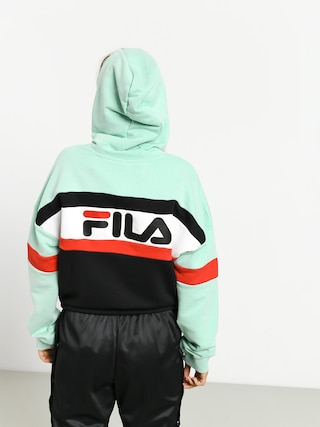 Fila Ella HD Hoodie Wmn (mist green/black/bright white/true red)