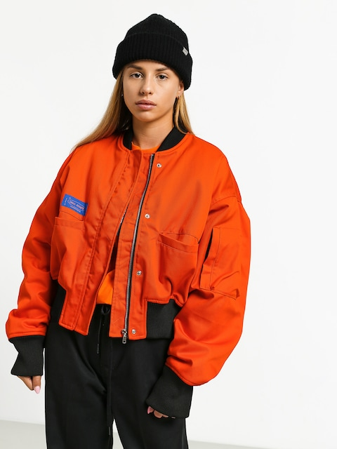 Local Heroes Lh Orange Bomber Jacket Wmn (orange)