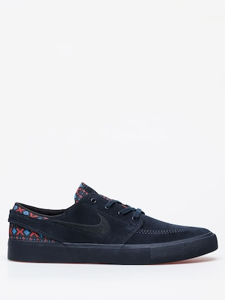 Nike SB Zoom Janoski Rm Premium Shoes (dark obsidian/black bright crimson)