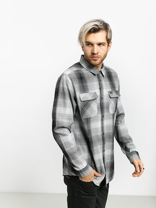 RVCA Muir Flannel Ls Shirt (black/white)