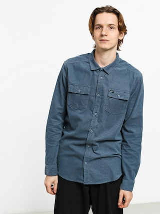 RVCA Freeman Cord Ls Shirt (china blue)