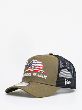 New Era Canvas Cali Trucker ZD Cap (olive)