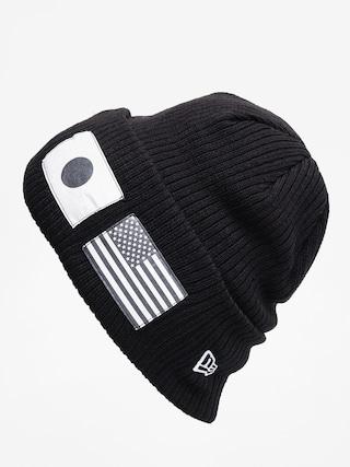 New Era Flag Watch Knit Beanie (black/optic white)