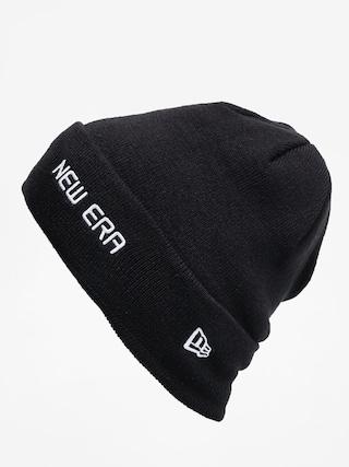 New Era Cuff Knit Beanie (black/white)