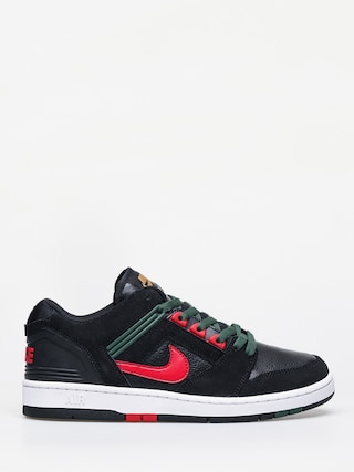 Nike SB Air Force II Low Shoes (black/gym red deep forest)