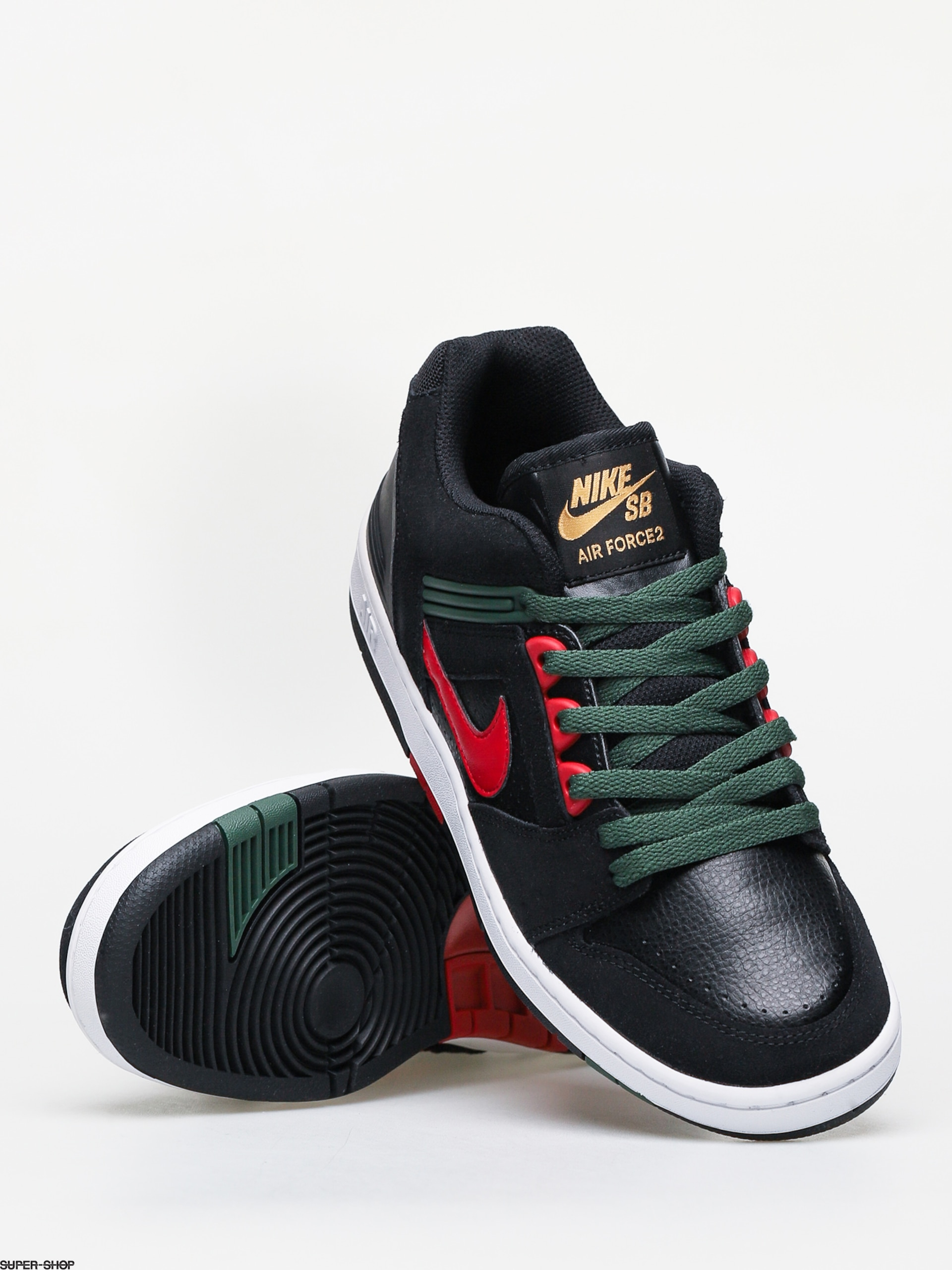 Nike SB Air Force II Low Shoes (black