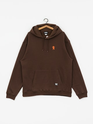Grizzly Griptape Og Bear Embroidered HD Hoodie (chocolate/tan)