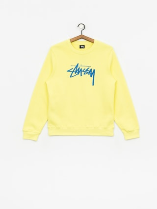 Stussy Stock Sweatshirt Wmn (lemon)