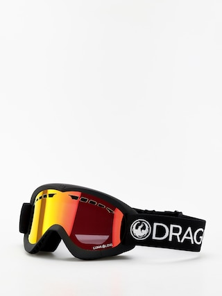 Dragon DXS Goggles (black/lumalens red ion)