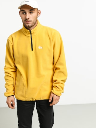 Stussy Basic Polar Fleece Mock Sweatshirt (mustard)