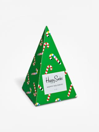 Happy Socks X Mass Giftbox 3pk Socks (green/red)