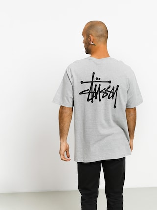 Stussy Basic T-shirt (grey heather)