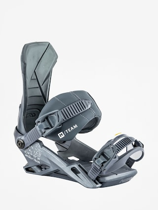 Nitro Team Snowboard bindings (metallic blue)