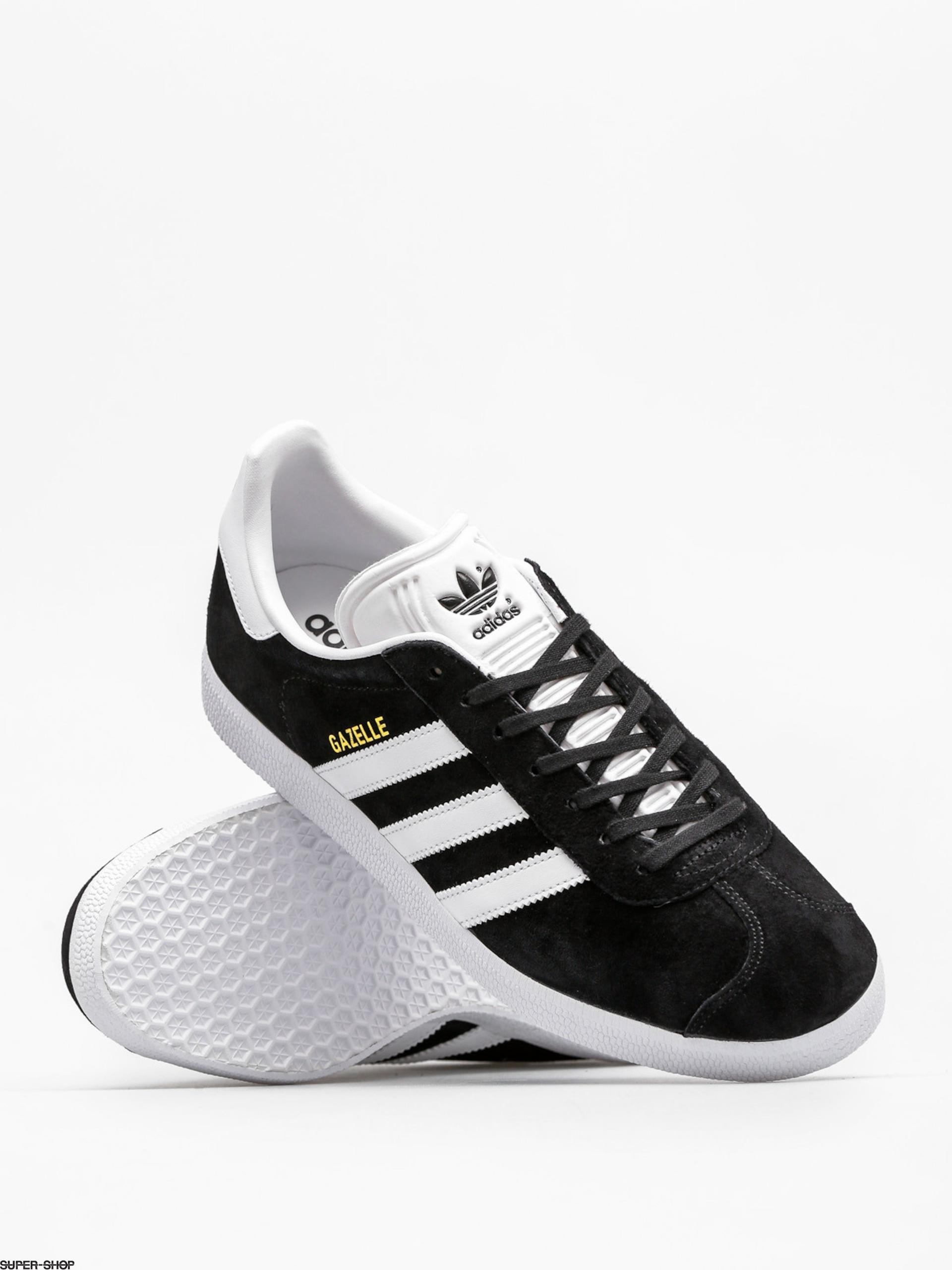 adidas Gazelle Shoes (cblack/white/goldmt)