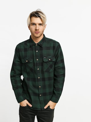 Brixton Bowery Flannel Ls Shirt (black/green)
