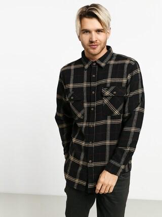 Brixton Bowery Flannel Ls Shirt (black/ivory)