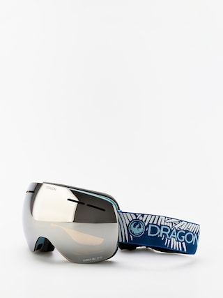 Dragon X1s Goggles (woven palms/lumalens silver ion/lumalens flash blue)
