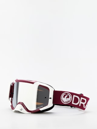 Dragon MXV Cross goggles (max mx burgundy/llsil ion clear)