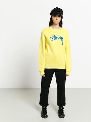 Stussy Stock Sweatshirt Wmn (lemon)