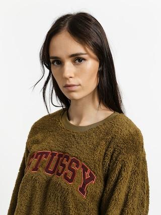 Stussy Pilar Sherpa Sweatshirt Wmn (olive)