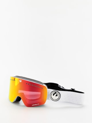 Dragon NFXS Goggles (pk white/lumalens red ion/lumalens pink ion)