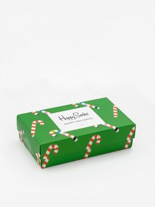 Happy Socks X Mass Giftbox 3pk Socks (red/green)