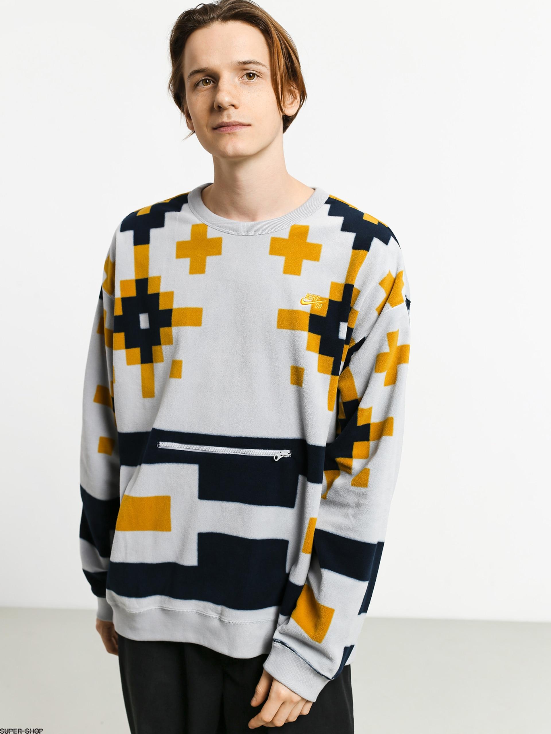 Nike SB Icon Crew Nomad Sweatshirt (wolf grey/wolf grey/dark sulfur)