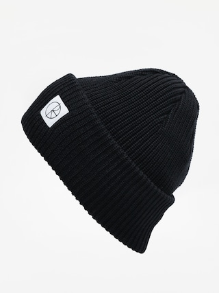 Polar Skate Double Fold Merino Beanie (black)