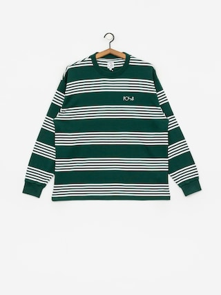 Polar Skate Striped Longsleeve (dark green)