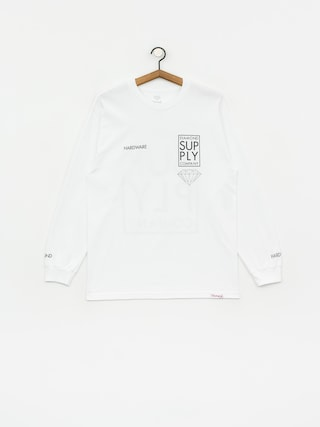 Diamond Supply Co. Stacked Type Longsleeve (white)