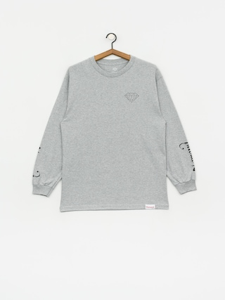 Diamond Supply Co. Double Read Longsleeve (heather grey)