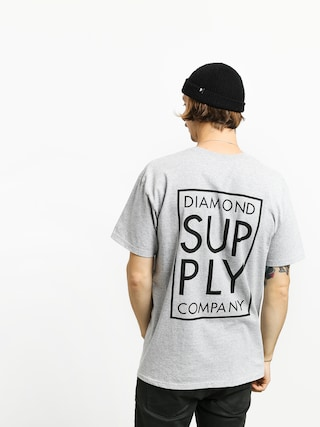 Diamond Supply Co. Stacked Type T-shirt (heather grey)