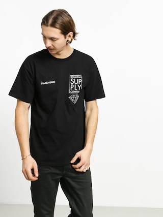 Diamond Supply Co. Stacked Type T-shirt (black)